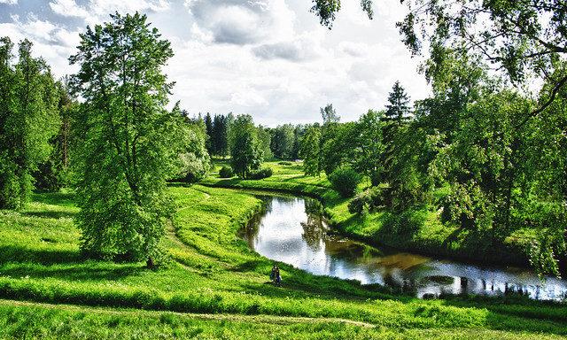 река Славянка в Павловском парке